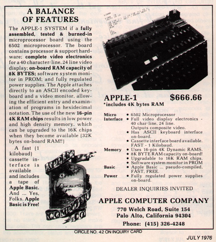 Apple Computer Ads 1976