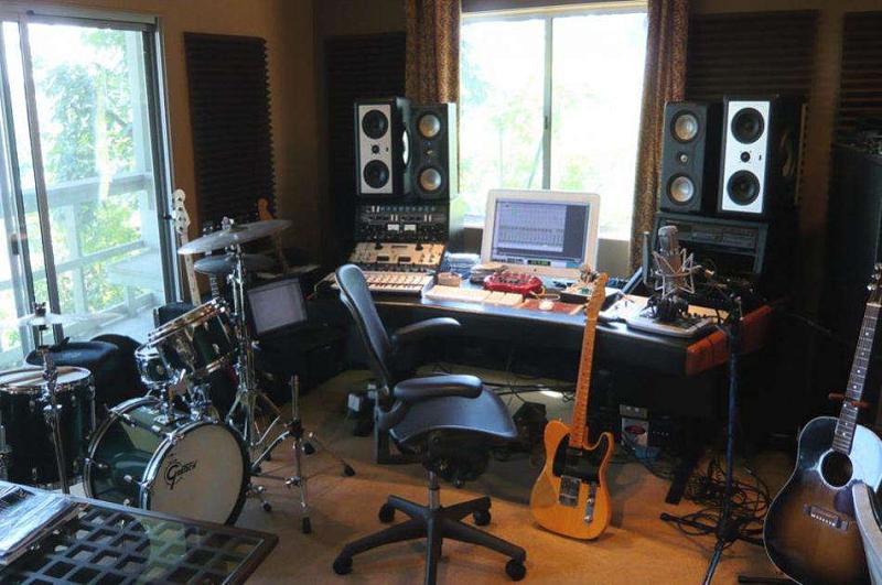 recording studio corner