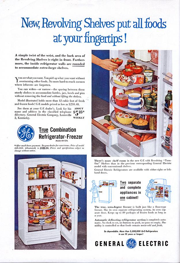 1948 GE Revolving Shelf Refrigerator